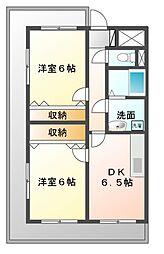 ラフィーヌ・有川壱番館[3階]の間取り