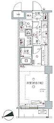 クレヴィスタ板橋桜川[211号室]の間取り
