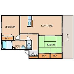 奈良県奈良市尼辻中町の賃貸アパートの間取り