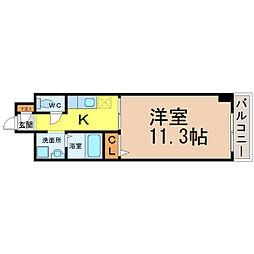 愛知県名古屋市中村区則武1丁目の賃貸マンションの間取り