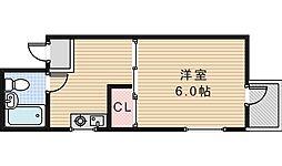 コーポ中野(H)[2階]の間取り