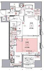 都営浅草線 東銀座駅 徒歩8分の賃貸マンション 3階1LDKの間取り