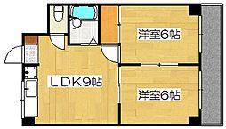 サンライズ日本[2階]の間取り