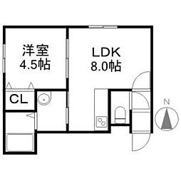 LACUS[2階]の間取り