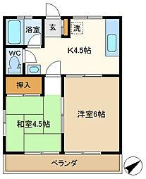 Sa・Ku・Ra 201[2階]の間取り