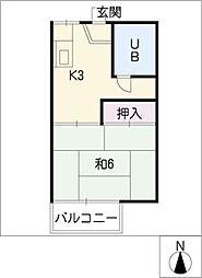ホワイトコート[2階]の間取り