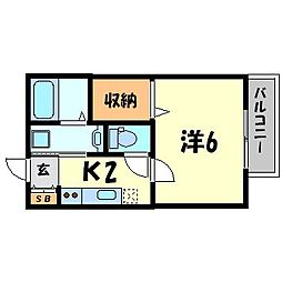 兵庫県尼崎市杭瀬南新町4丁目の賃貸アパートの間取り