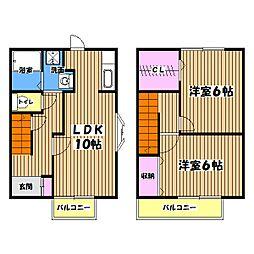 [テラスハウス] 東京都立川市幸町4丁目 の賃貸【/】の間取り