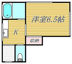 東京都世田谷区上馬1丁目の賃貸アパートの間取り