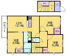 パインビラ14 A[2階]の間取り