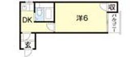 八番館[702号室]の間取り