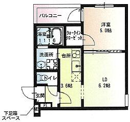 阪急宝塚本線 石橋阪大前駅 徒歩9分の賃貸アパート 2階1LDKの間取り
