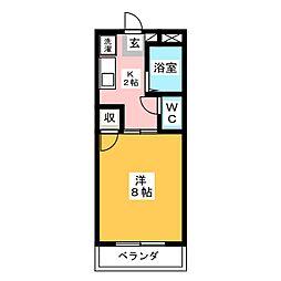 グリーンパーク賞田[3階]の間取り