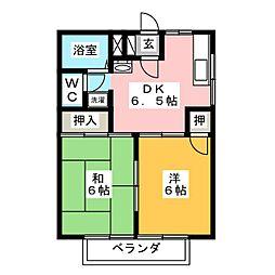 パークハイムI[2階]の間取り