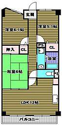 ルノン和泉中央[10階]の間取り