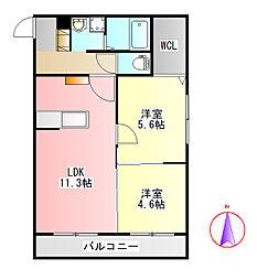 Laxmi[1階]の間取り
