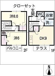 [タウンハウス] 愛知県日進市香久山2丁目 の賃貸【愛知県 / 日進市】の間取り