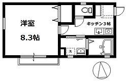 テスタ岡田[202号室号室]の間取り