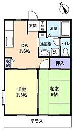 パル石井[1階]の間取り