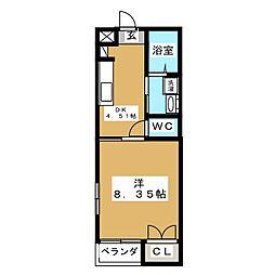 メディメゾン[1階]の間取り