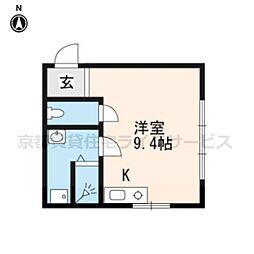 コスモ三条京阪[307号室]の間取り