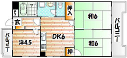 シャトレ上本町[8階]の間取り