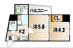 ノースステイツ浅生[3階]の間取り