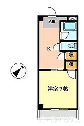サンセール二軒屋イースト[2階]の間取り