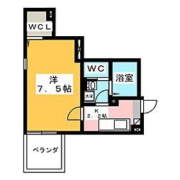 (仮称)木月3丁目新築工事 1階1Kの間取り