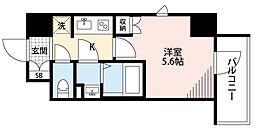 Grado新所沢 4階1Kの間取り