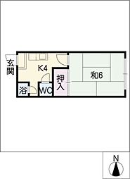 有貴荘[2階]の間取り