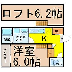 名古屋市営桜通線 中村区役所駅 徒歩7分の賃貸アパート 1階1SKの間取り