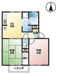 サウスガーデンBB A棟[1階]の間取り