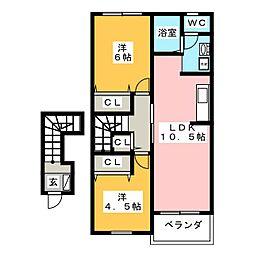 ヴァルトI B[2階]の間取り