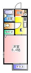 プロジェクトハイツ[2階]の間取り