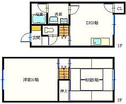 川鍋アパート[1階]の間取り