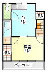 小野アパート[201号室]の間取り