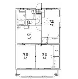 ユーミーマンション 松岡[103号室]の間取り