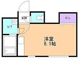 コーポラス19A棟[2階]の間取り
