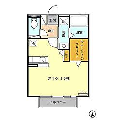 ファミールII B[2階]の間取り