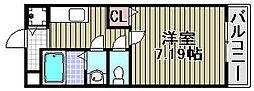 グランエクセル2番館[205号室]の間取り