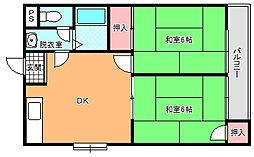 エスポワール白鷺[3階]の間取り