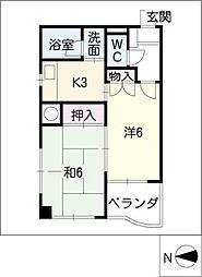 MK 平安[2階]の間取り