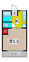 エムケイハイム[2階]の間取り