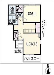 エスポワール・W[1階]の間取り