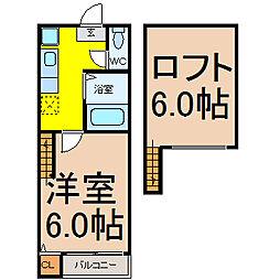 Kspace東別院(ケースペースヒガシベツイン)[2階]の間取り