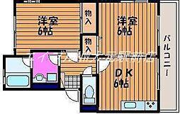 岡山県岡山市北区西崎本町の賃貸マンションの間取り
