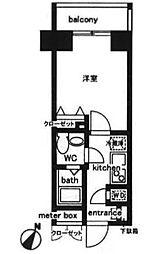 東京都中央区日本橋人形町3丁目の賃貸マンションの間取り