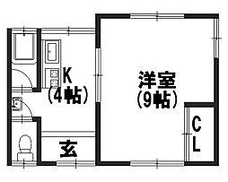 みのり荘[2F北号室]の間取り