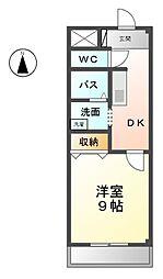 愛知県あま市坂牧向江の賃貸マンションの間取り